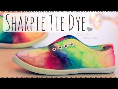 6bf93e8f1760 DIY SHARPIE TIE DYE SHOES - Rainbow Sneakers - How To