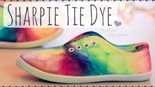 DIY SHARPIE TIE DYE SHOES - Rainbow Sneakers - How To | SoCraftastic