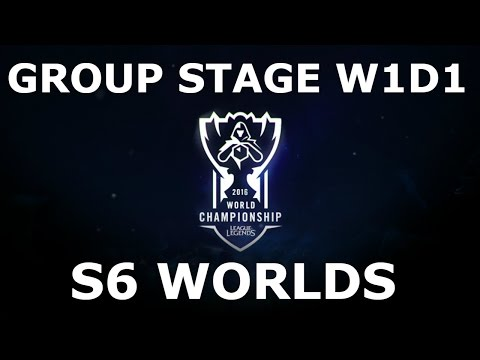 LoL S6 World Championship 2016 Group Stage Week 1 Day 1! Full Day All Games #Worlds 2016