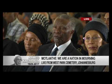 Kgalema Motlanthe pays tribute to Ahmed Kathrada