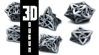 How To Draw 3D Celtic Knot-3D Düğüm Nasıl Çizilir