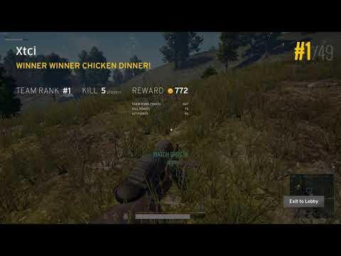 PuBG - Duo Win #5 kills.  Xtci  Rank Climb