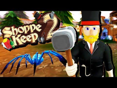 Hunting HUGE Wolves and GIANT Spiders! - Shoppe Keep 2 Gameplay