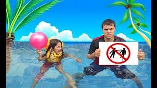 REGRAS DE CONDUTA para CRIANÇAS na PISCINA (Rules of Condut for Children )- JULIA ANTENADA