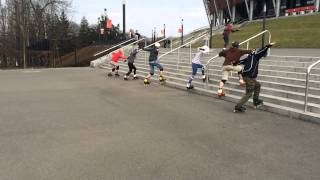inline skating down stairs - Stadion Narodowy - Lesson I