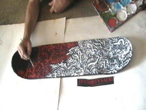 Ten thirty valid skateboard design youtube for Best paint for skateboard decks
