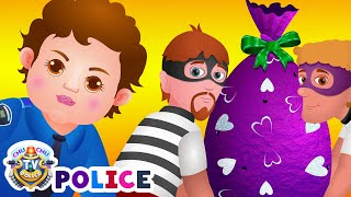ChuChu TV Police Chase & Catch Thief in Police Car Save Giant Surprise Eggs Toys, Gifts for Kids thumbnail