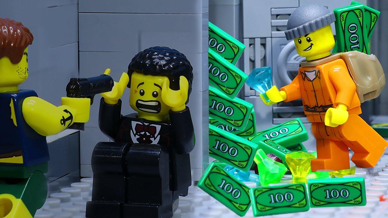 LEGO Thief Broke Into Jewel Store: Dangerous Criminals (LEGO Animation)