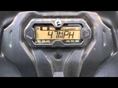 2015 Can Am Outlander 450 L top speed run