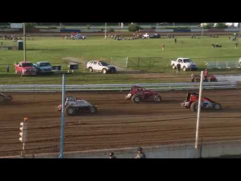 USAC Sprint Car Heat 1 Terre Haute Action Track 5/22/19