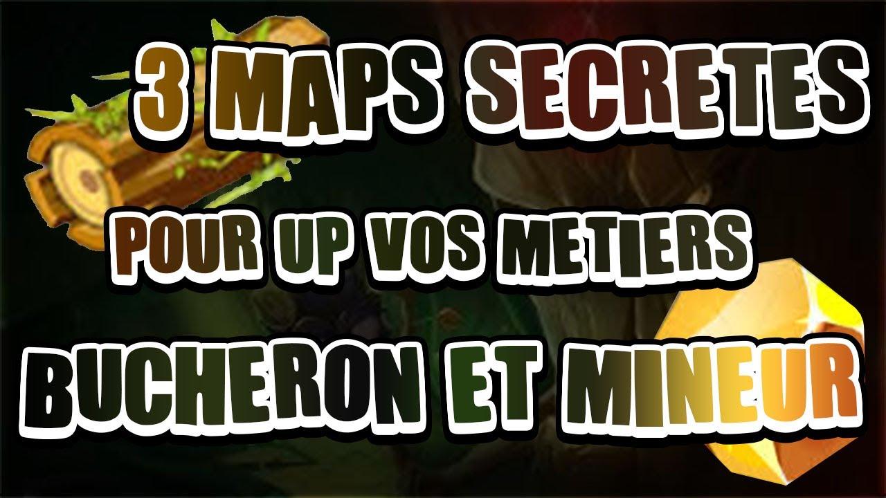 Dofus Touch Maps Secretes Monter Les Metiers Bucheron Et Mineur Youtube