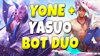 YONE + YASUO BROTHER DUO BOT LANE!! ULTIMATE SYNERGY - League of Legends
