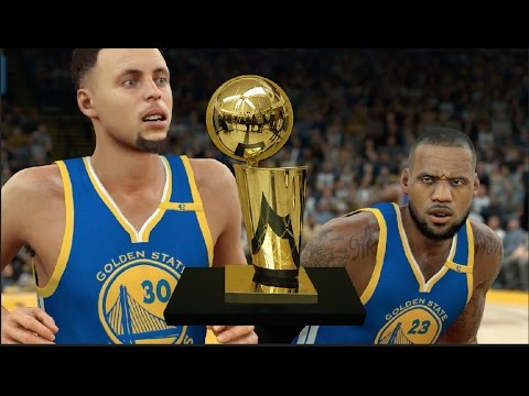 Would The Golden State Warriors Win A Title Every Time If They Got Lebron James? NBA 2K17 Challenge