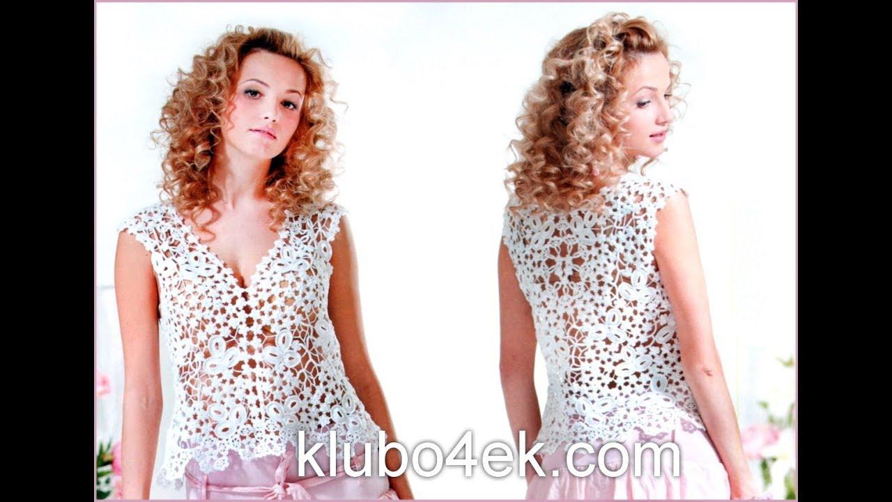 ae168f9bd13 Вязаные Летние Кофточки Крючком - 2019   Knitted Summer Blouses Crochet