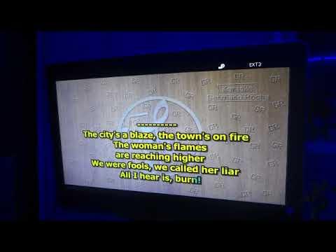 Karaoke - burn, my woman from Tokyo, lazy, space truckin , smoke on the water