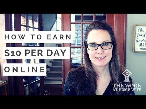 How to Make Around $10 Per Day Online