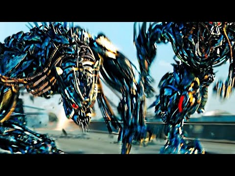 Transformers : Dark of the Moon Fight Scene Highway Chase (1080HD VO)