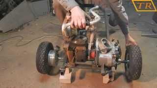 Go Kart #4 Задняя ось и двигатель