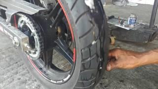 Furei o pneu da minha moto!😮 A vacina de pneu funciona???