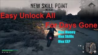 Easy Unlock Everything For Day Gone | Unlimited Money, Max Skills & Max EXP (Unlock Everything)