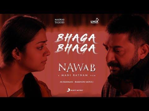 Nawab - Bhaga Bhaga Lyric (Telugu) | A.R. Rahman | Mani Ratnam | Rakendu Mouli