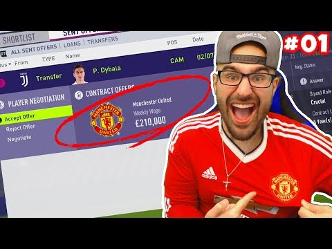 OMG DYBALA INSANE MANCHESTER UNITED DEAL *$120,000,000* - FIFA 18 Career Mode #01