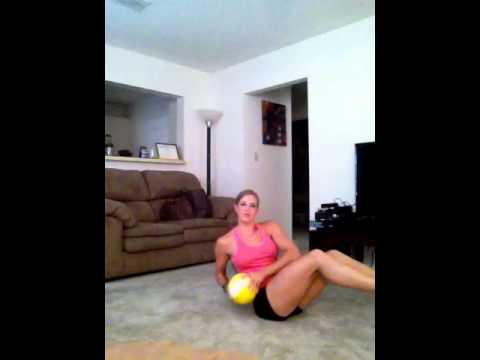 3 Easy Ab Moves Using a Medicine Ball.