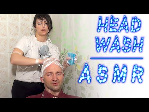 ASMR Head Washing | Woman Wash Bald Men Head