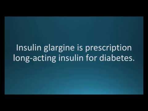 How To Pronounce Insulin Glargine (Lantus, Toujeo) (Memorizing Pharmacology Flashcard)