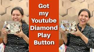 Youtube Diamond Play Button | 10 Million Subscribers | Kabitaskitchen