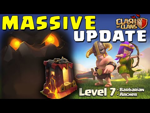 Clash of Clans - THE LAVA HOUND , Level 6 Dark Barracks, Level 7 Barbs & Archers - Massive Update!