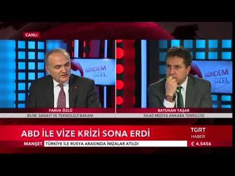 Gündem Özel - Faruk Özlü Bilim Sanayi ve Teknoloji Bakanı (29.12.2017)