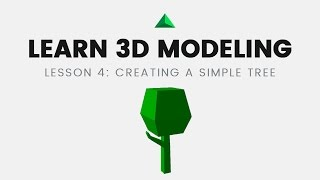 Learn 3D Modeling on iPad. A1 Lesson 4: Creating low poly tree