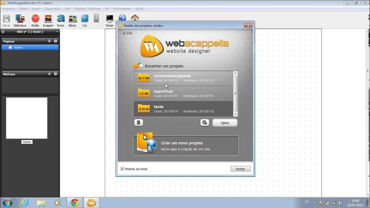 web acappella 4