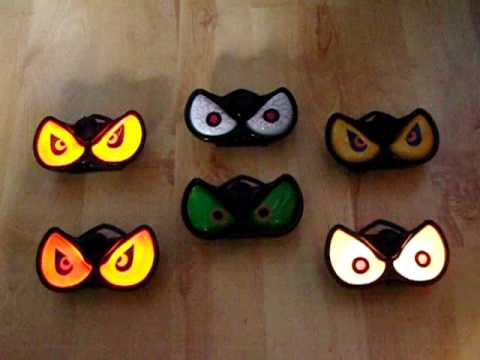 light up flashing evil eyes halloween party prop decoration