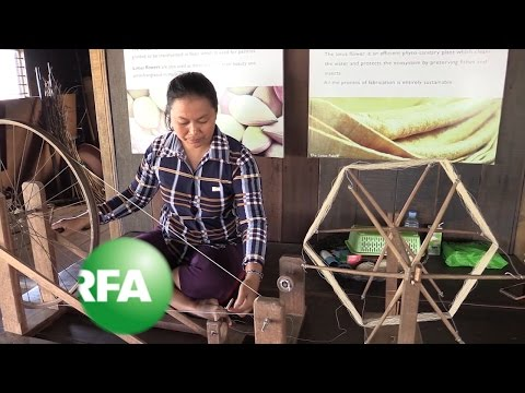 Cambodian Villagers Spin Lotus Fiber into Fabric | Radio Free Asia (RFA)