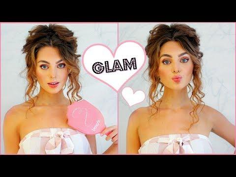 Girly Makeup Routine & Big Messy Bun Tutorial💕 Rose Gold for Instagram