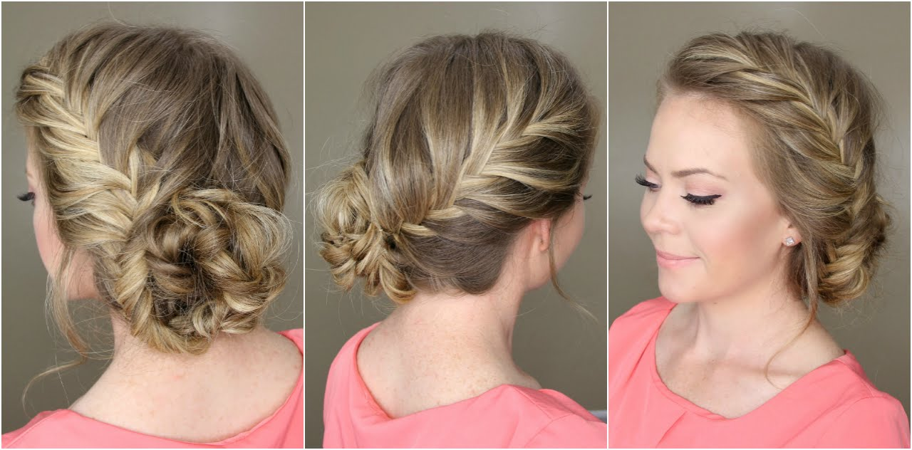 fishtail french braid braided bun