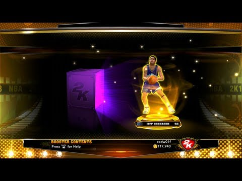 Opening packs to reveal gold players in my team NBA 2k13. 2 time NBA three-point contest winner