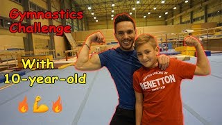 Gymnastics Challenge with 10-YEAR-OLD