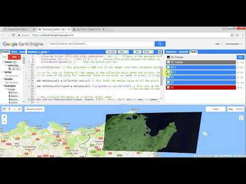 25_How to mosaic Sentinel 2 images with Google Earth Engine - YouTube