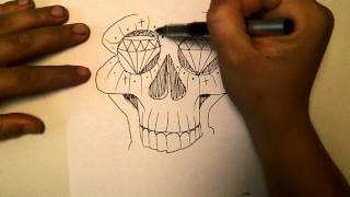 how2art how to draw a cholo skull