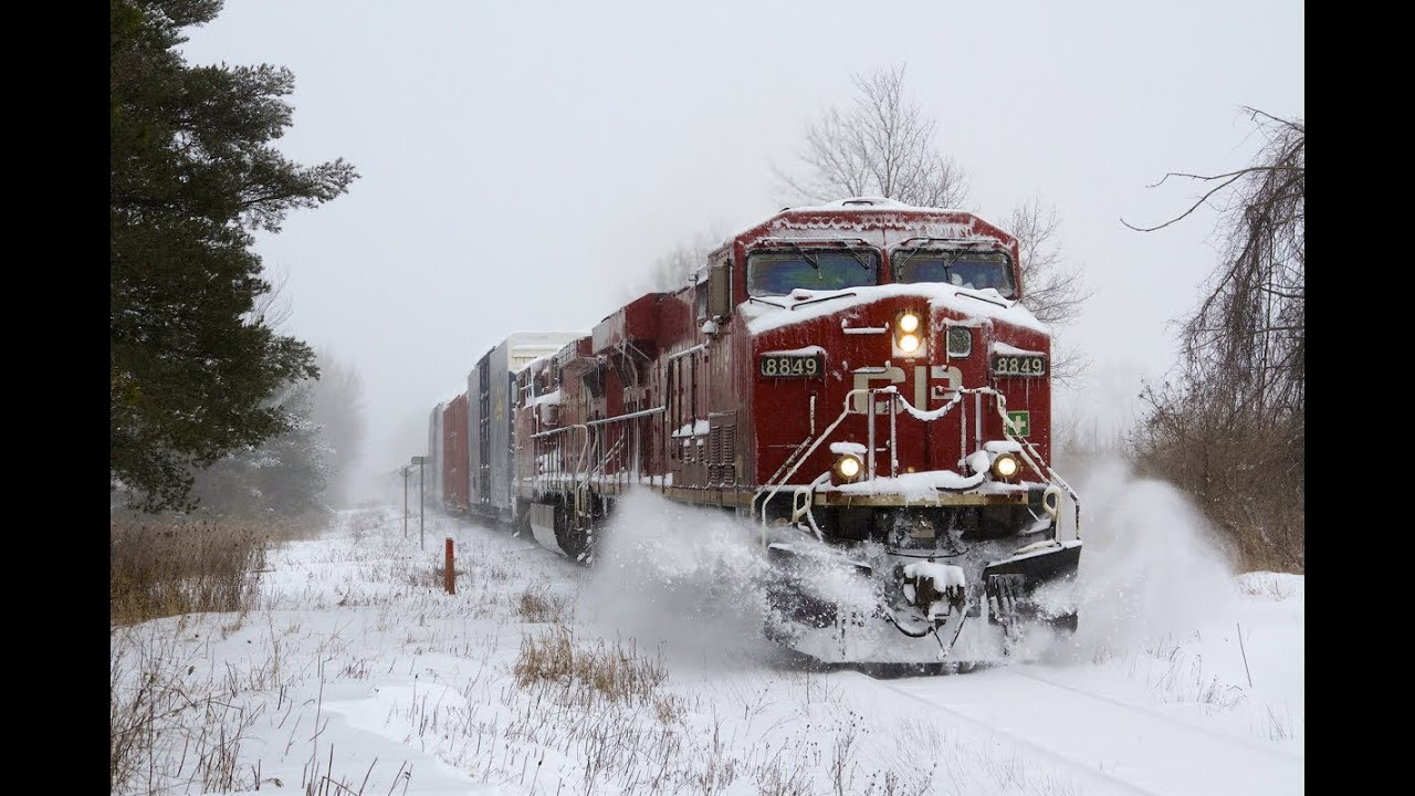 Early Fall Hd Wallpaper Cp Trains In A Snow Storm Hd Youtube