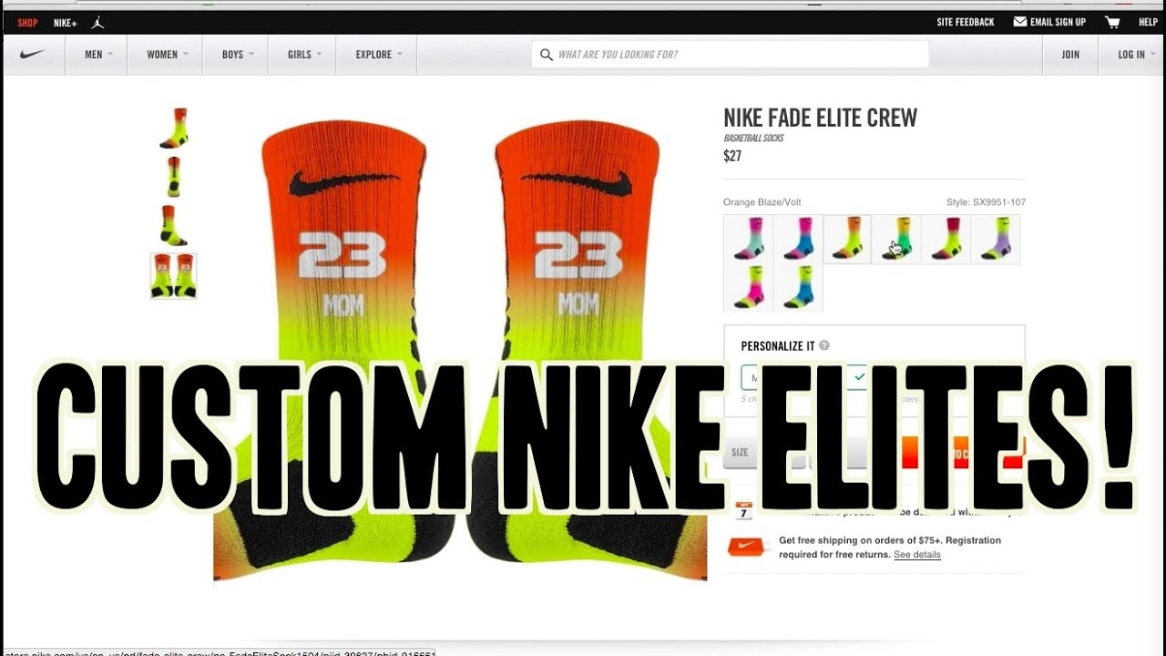 62e5214a046 Custom Elite Socks