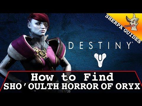 How to Find Sho'oulth Horror Of Oryx on Mars   Patrol Barrens   Destiny   TTK