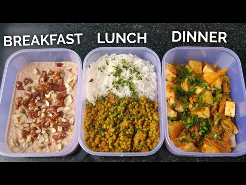 Meal Prep 3,000 calories in 30mins !! ( BULKING DIET ) • PURE VEG  🇮🇳