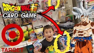 Hunting & Finding Rare Dragon Ball Super Card Game Colossal Warfare Booster Packs Inside Target!!