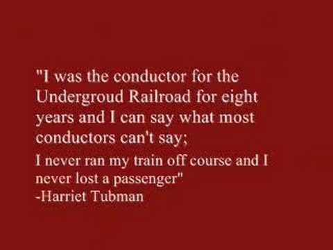 Harriet Tubman Conductor of the Underground Railroad - YouTube