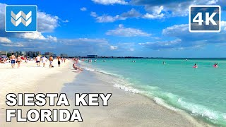 [4K] Siesta Key Beach in Florida USA - 2021 Spring Break Walking Tour & Travel Guide 🎧