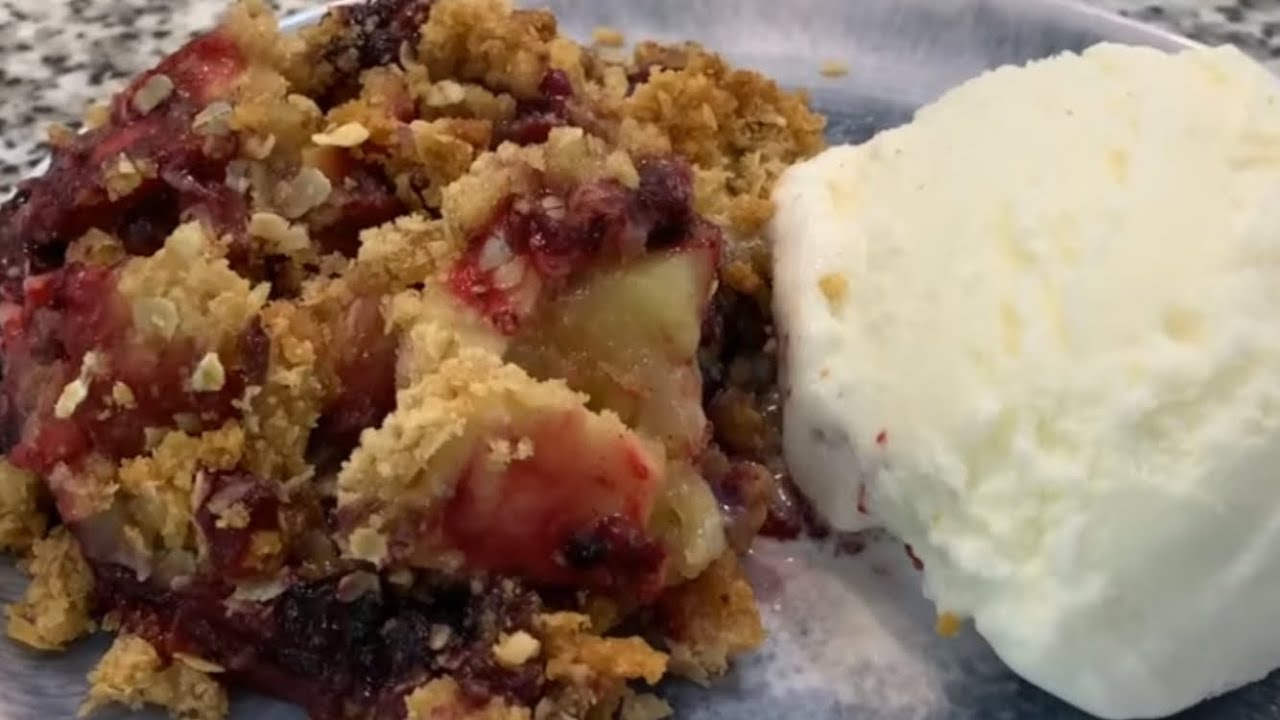 Download How to make a Easy Apple Blueberry Crisp